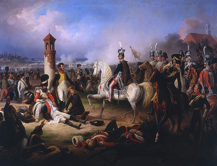 Death of Cyprian Godebski at the Battle of Raszyn 1809 by January Suchodolski 1855