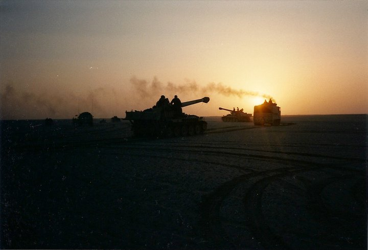 2-142nd Field Artillery Convoy duirng Operation Desert Storm
