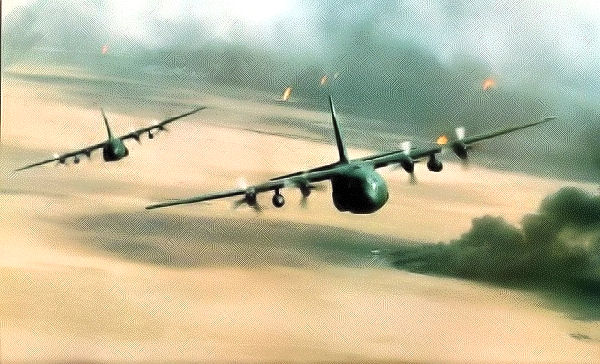 C-130 180AS Over Kuwait 1991